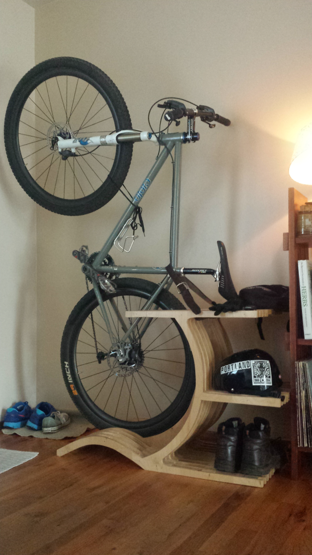 Small space challenge storing bicycles indoors core77 - Bike storage for small spaces image ...