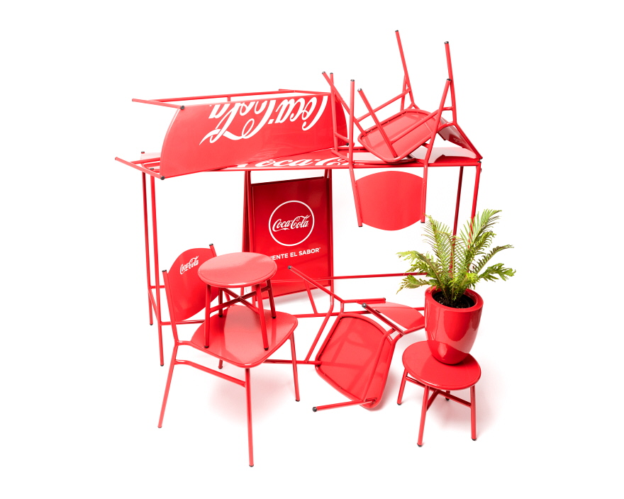 Reader Submitted:  A Fresh Take on Coca-Cola s Design Language in the Form of a Furniture Collection
