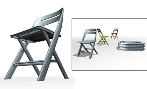Screw less folding chair design core77 for Designer chairs for less