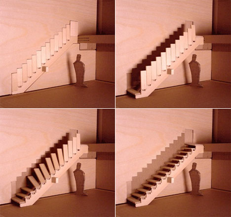 Aaron tang 39 s disappearing stairs core77 for Folding stairs