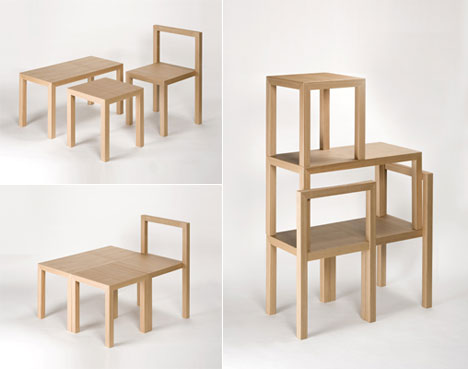Three beautiful wooden furniture pieces from AWA Core77