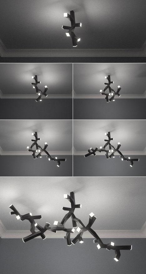 Bruno Fosi's modular LED ceiling lamp - Core77:Bruno Fosi's modular LED ceiling lamp,Lighting