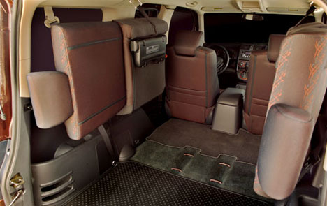 The Honda Element's rear seats fold up and out
