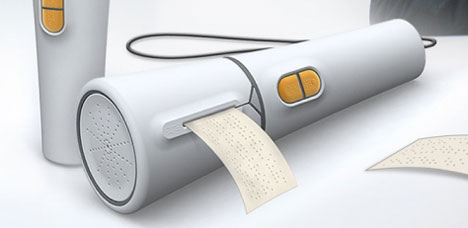 hand held braille printer concept design