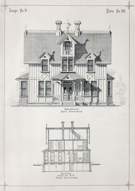 Exhibition on 19th century diy architecture manuals core77 for 19th century farmhouse plans
