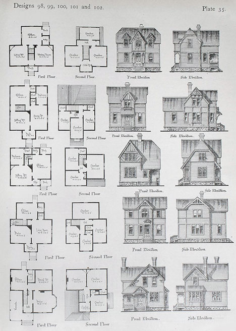 Exhibition on 19th century diy architecture manuals core77 for Historical home plans