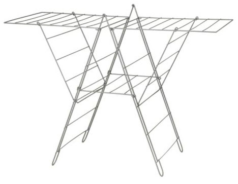 nifty wall mounted folding laundry rack core77. Black Bedroom Furniture Sets. Home Design Ideas