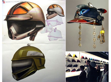 Design Helm design students collaborate with harley davidson on the helmet