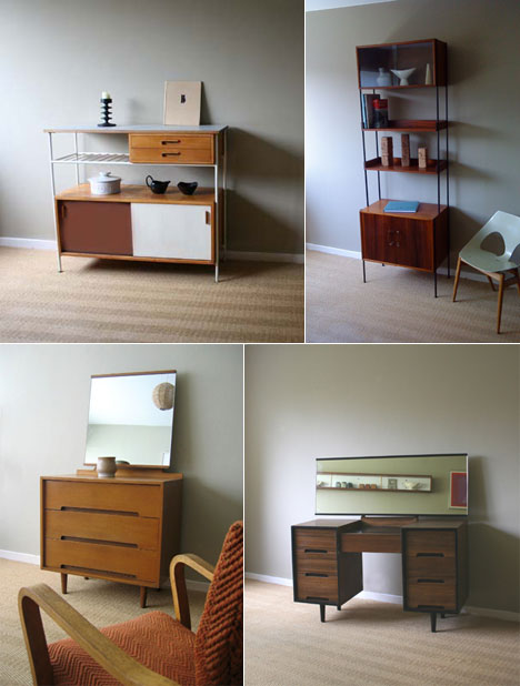 British company Homespun sells carefully curated 1950s furniture produced  by local designers  Mid Century Modern by way of the UK. 1950s British storage furniture  and more  from Homespun   Core77