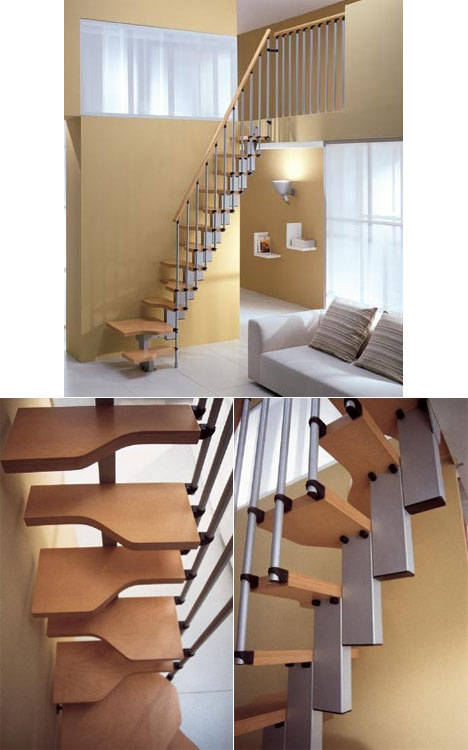 Space-saving staircase - Core77