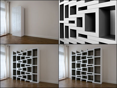 Expandable Bookcase Design