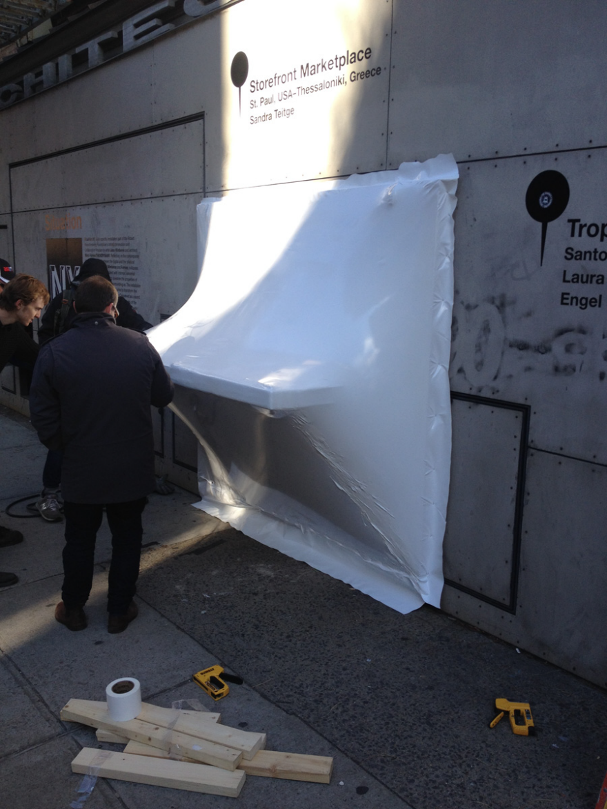 Shrink Wrapping Storefront How So Il Realized Its Bulging