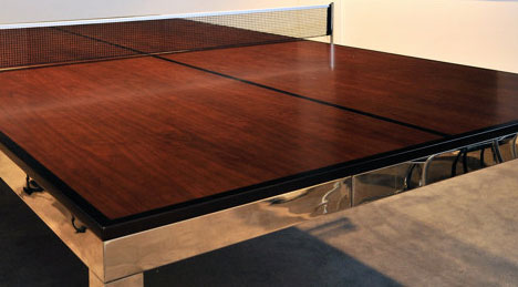 Delightful ... A Ping Pong Spec Conference/dining Table That Easily Transitions From  One To The Other, And Is Constructed With Materials A Damn Sight Nicer Than  Green ...