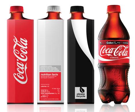 Coke Bottles Smaller Kim's Coke Bottle Redesign