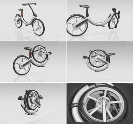 volkswagen electric bike fold up