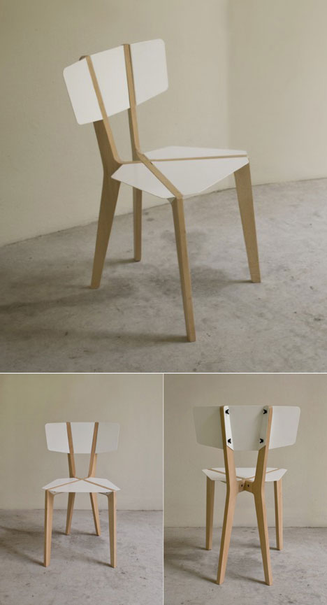 Naked   An Extremely Lightweight Chair That Uses Its Structure As Its  Aesthetic. The Strength Of This Chair Is Due To Action Reaction Forces  Between The ...