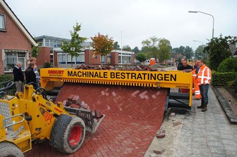 This impressive bit of kit by Dutch manufacturer Tiger Stone could make  this paving technique of days gone by a viable ...