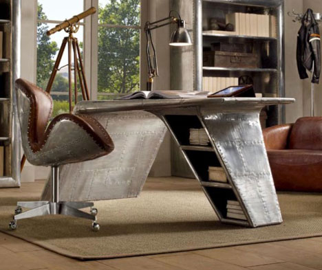Restoration Hardware's new Aviator Wing Desk