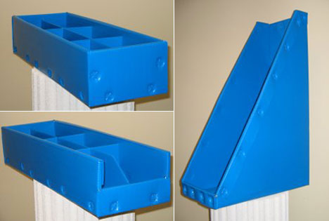 how to make a box out of corrugated plastic