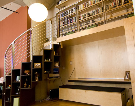 Maximize Storage Space maximizing storage space: well-designed library loftbecause we