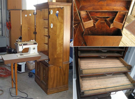 Marvelous Sewing Furniture, Part 5: Large Cabinets