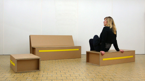 Move It Collection of cardboard furniture