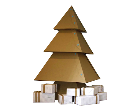 diy cardboard christmas tree core77. Black Bedroom Furniture Sets. Home Design Ideas