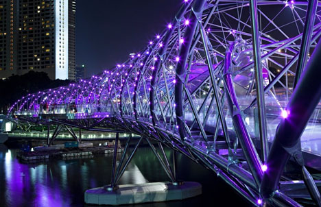 Awesome Thatu0027s Singaporeu0027s Trippy Helix Bridge, Designed By Australia Based Cox  Architecture U0026 Design After They Beat Out 35 Other Entrants In A Design  Competition ...