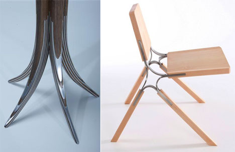 Andrew perkins 39 innovative wood metal blending core77 for Metal design chair