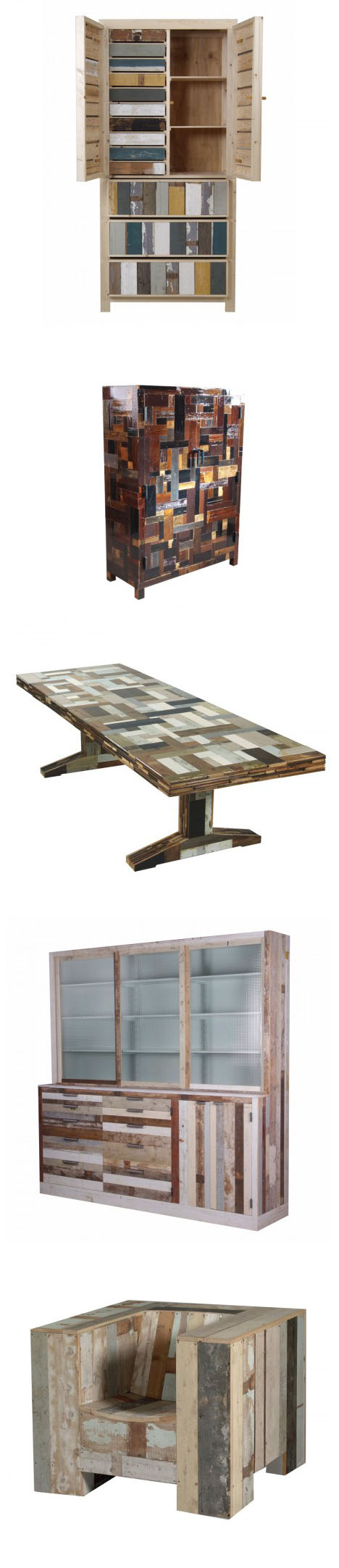 Piet Hein Eek s Raw Material for Furniture Scrap Wood