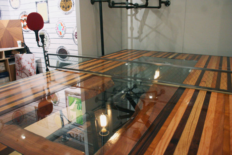Ny design week 2012 a steampunk ping pong table more by akke functional art core77 - Dimension table ping pong ...
