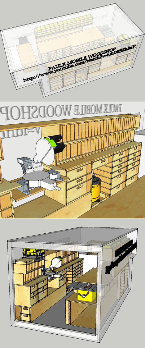 Ron Paulk U0026 39 S Super Mobile Woodshop Is Complete  And He U0026 39 S Posted The Sketchup Plans For Free