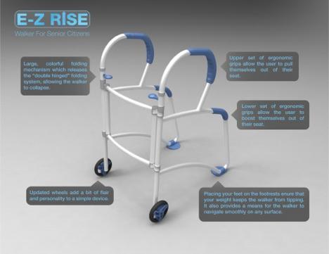 Core77 Design Awards 2012: E-Z Rise Walker for Senior Citizens ...