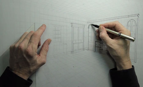 Perspective Drawing Time Lapse Core77