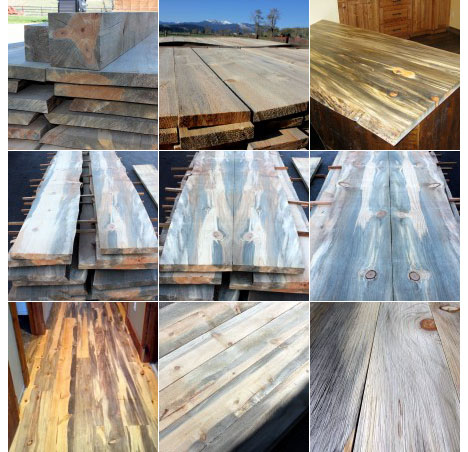 Montana Based Sustainable Lumber Co. Sells It In Slabs, Boards And Timbers  Under Its Common Name, Beetle Kill Pine. The Variety Of Grains Ranges From  ...