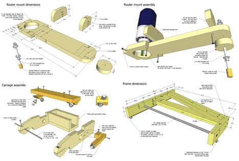 router pantograph plans DIY Woodworking PDF Plans