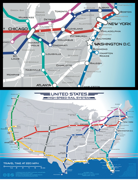 More High Speed Rail Alfred Twus US High Speed Rail Map Its