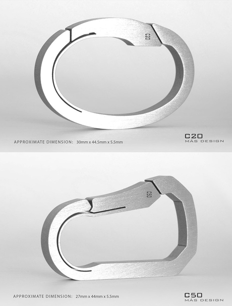 A nice use of electrical discharge machining mas design 39 s for Designer carabiner