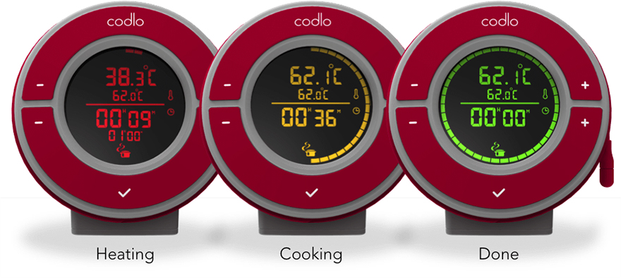 the codlo like a nest thermostat for sous vide cooking core77. Black Bedroom Furniture Sets. Home Design Ideas