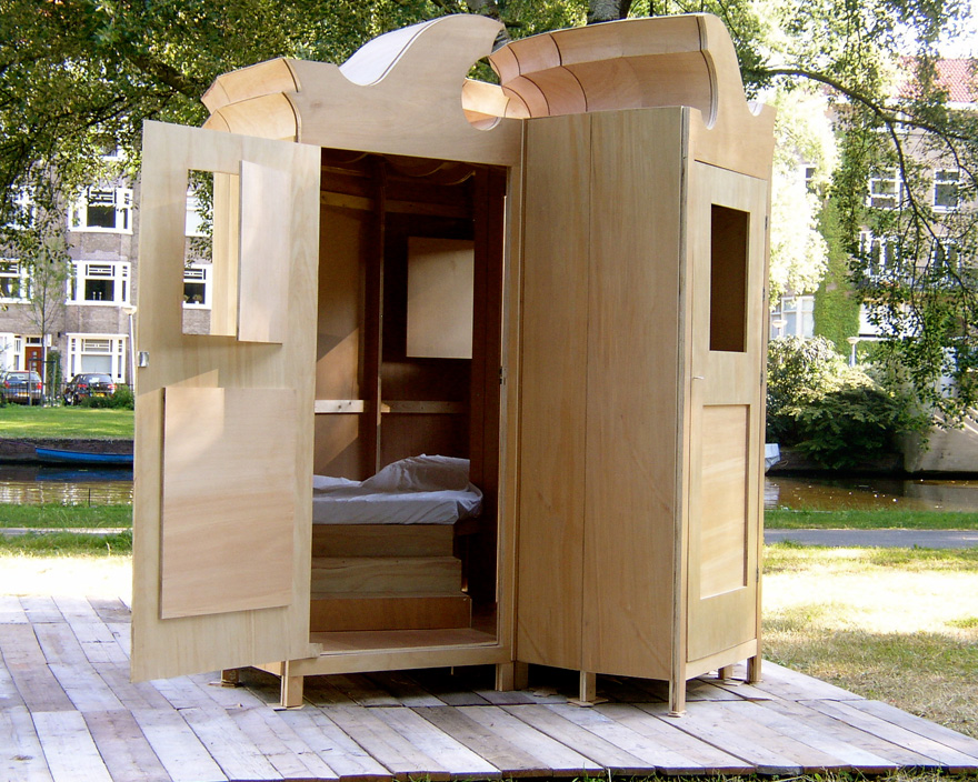 Trendlet Clever And Bizarre Ideas For Urban Camping From A - Closet ideas for tent camping
