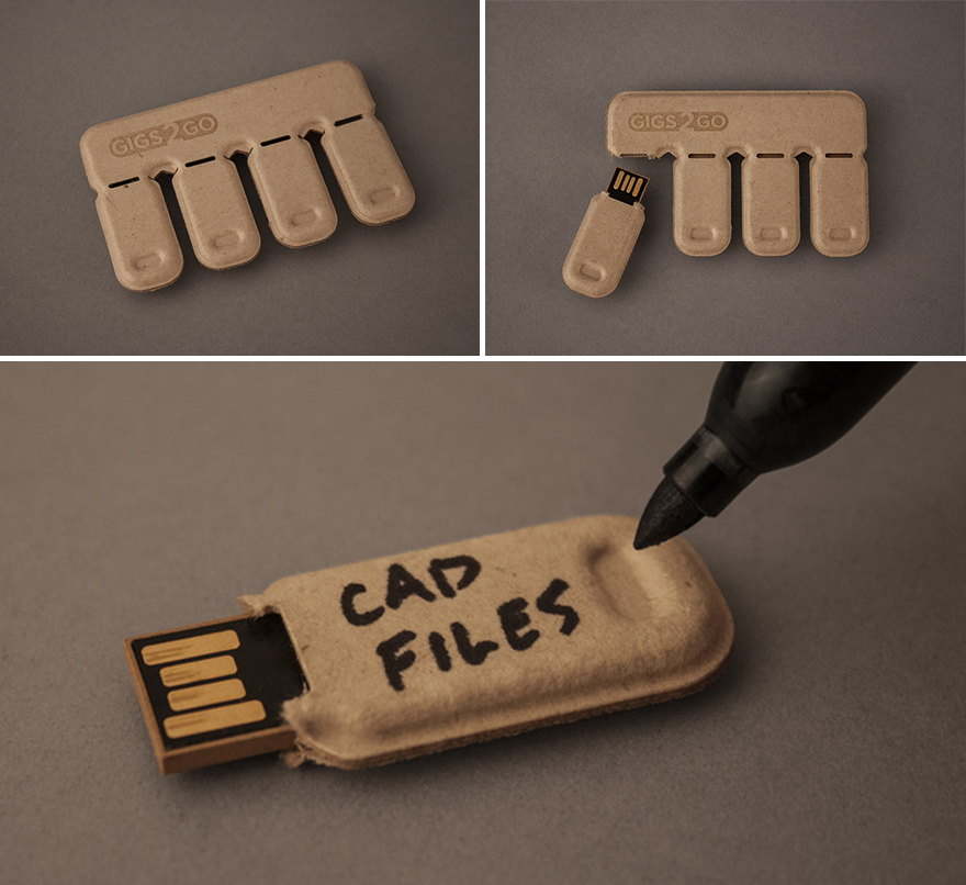 Gigs 2 go tear share recycled paper flash drives yea or for Waste paper things