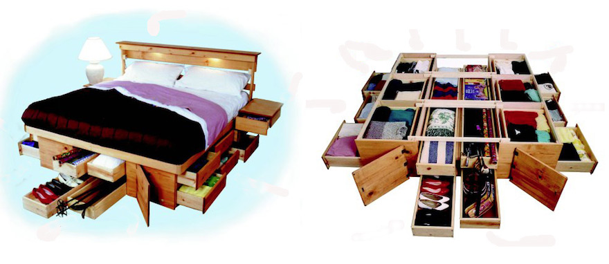 Perfect Bedroom Storage Making the Most of the Under Bed Space