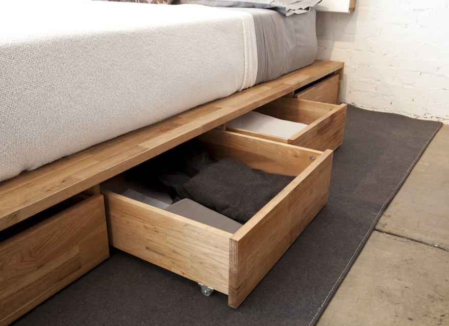 making a platform bed with storage