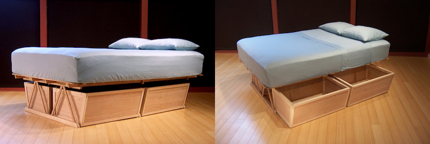Cool Bedroom Storage Making the Most of the Under Bed Space