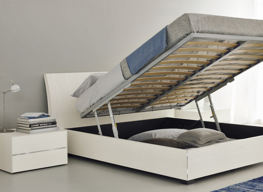 Bedroom storage making the most of the under bed space - Lift up storage bed ...