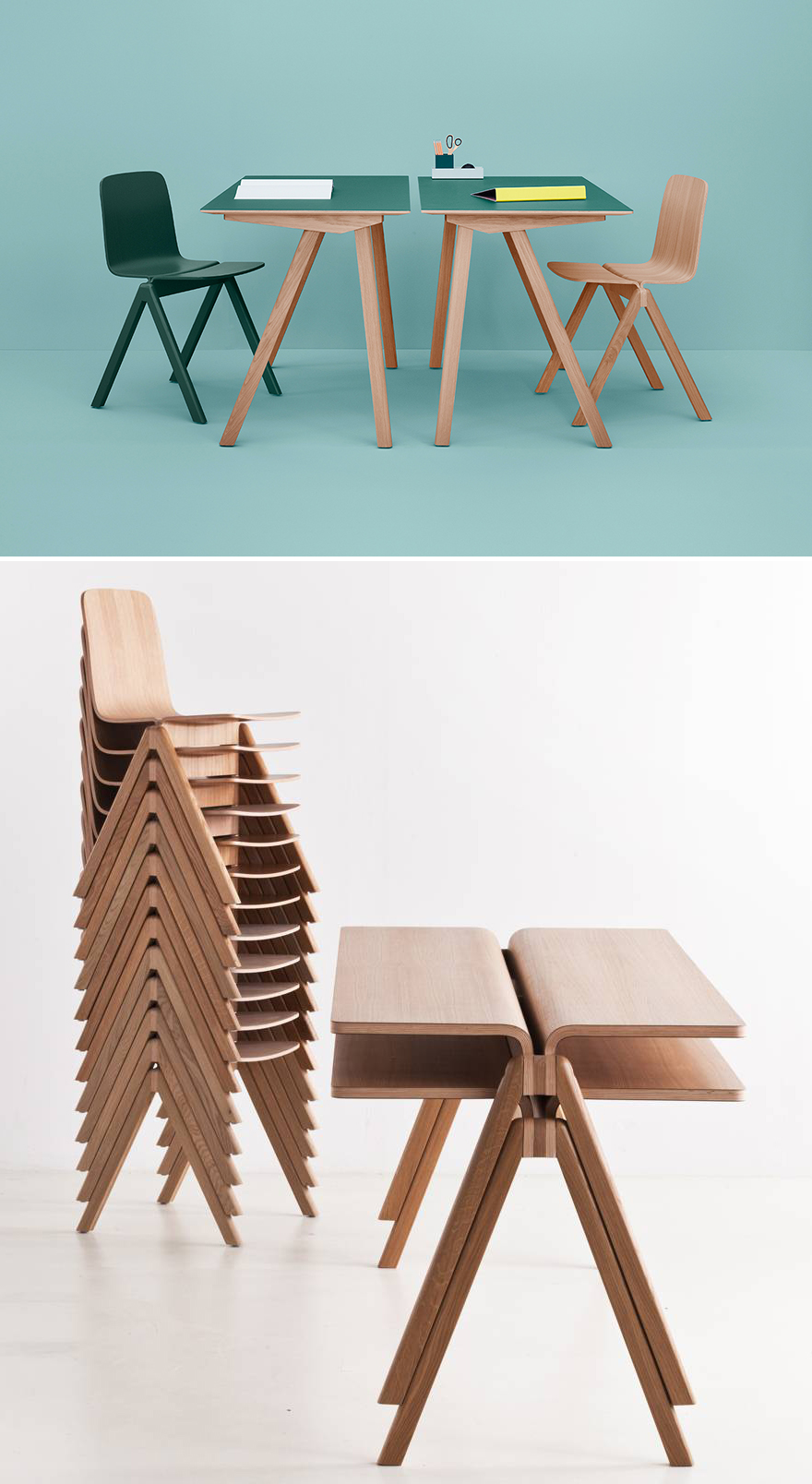 Making school furniture beautiful the bouroullecs for Hay design