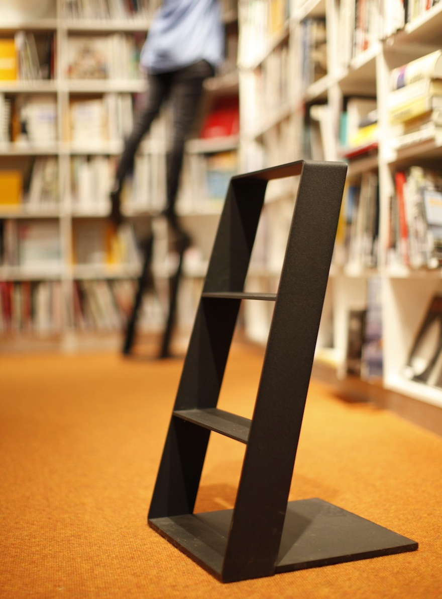 the heaven stepladder designed by thomas bernstrand and by swedese is made of lacquered aluminum sheet metal thereu0027s no second side to - Step Stool With Handle