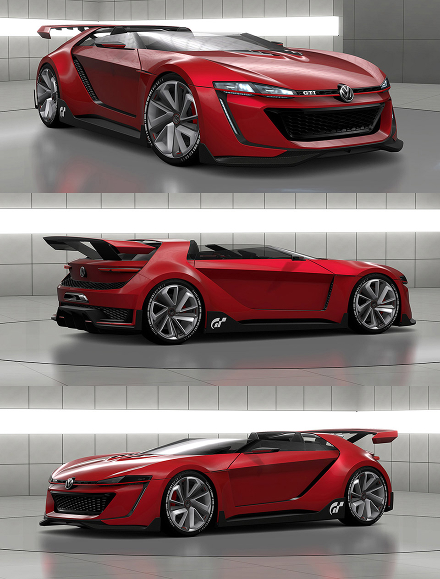 yow volkswagen unveils bad ass videogame inspired concept car core77. Black Bedroom Furniture Sets. Home Design Ideas