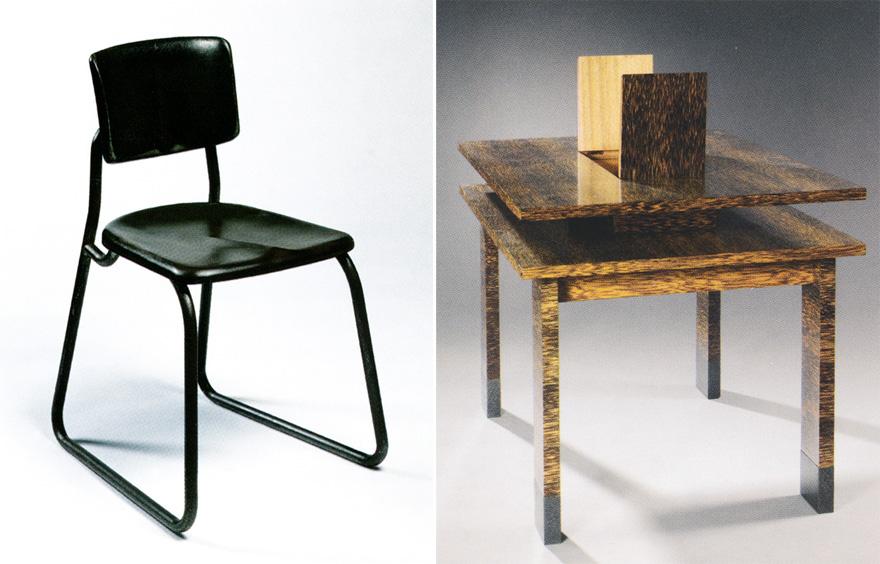 Delightful Left: A Bakelite Chair Circa 1935. Right: A Table Circa 1930