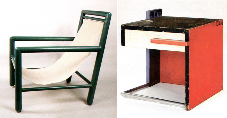 Captivating Left: A Tubular Steel Chair From 1927. Right: A Table For Villa Cavrois,  Circa 1930